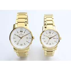 Challenger Pair''s Gold Watch - Stainless Steel S12547L-2P