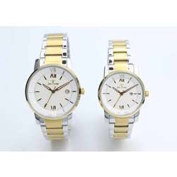 Challenger Pair''s Two Tone Watch - Stainless Steel S12547L-3P