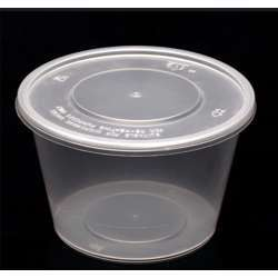 FP Microwave Clear Round Container With Lid 450ml - 500pcs