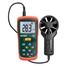Extech AN100 CFM/CMM Mini Thermo-Anemometer with Large Display