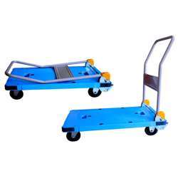 Gazelle GPT150 PlatformTrolley - PU Bed w/Folding Handle Constructed from injection molded reinforced plastic