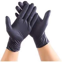 Hotpack Vinyl Gloves Extra Large Black 100 Pcs/Box Powder Free