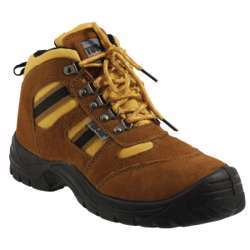 Tuf-Fix Safety Shoes Honey Color Size 45 (Steel Toe & Sole)