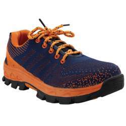 Tuf-Fix Mesh Material Orange Blue Coloured Low Ankle Size 40