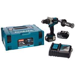 Makita DHP481RTJ Cordless Percussion Driver Drill 18V with 2 3.0Ah LXT Li-Ion Battery + 1 Charger - 13mm