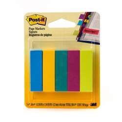 3M Post-It Page Marker 670-5Au, 1/2 Inx1 7/8 In Assorted Colors