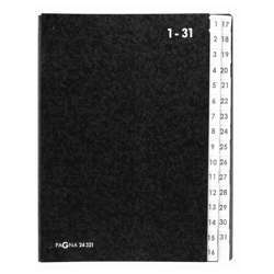 Durable P24321-04 Pagna Signature Book, 1 To 31 Pages, Black Colour
