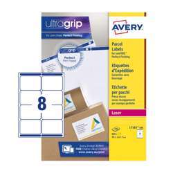 Avery Parcel Labels L7165-100 With Ultragrip Technology, 99.1x67.7 mm, 8 Labels Per Sheet, 100 Sheets In A Pack