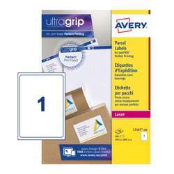 Avery Self Adhesive Parcel Shipping Labels L7167-100, 199.6x289.1mm, Block Out Technology, 1 Label Per Sheet, 100 Sheets In A Pack