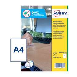 Avery Antimicrobial A4 Size Labels, 10 Sheets In A Pack (Am001A4-10)