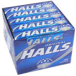 Halls Candy Menthol Flavoured (12x20x25.2g)