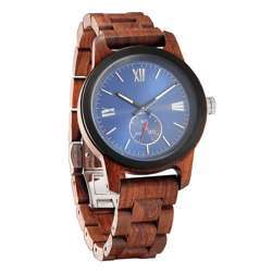 Wilds Wood Men''s Handcrafted Engraving Kosso Wood Watch - Best Gift Idea!