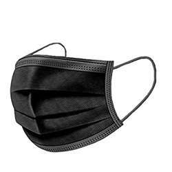 Disposable Face Mask 3 Ply (1x50Pcs) - Black