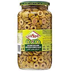 Crespo Sliced Green Olives (6x460g)