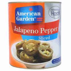 American Garden Sliced Jalapeno Peppers (6x2.892kg)