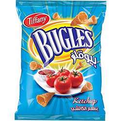 Tiffany Bugles Ketchup Flavour Potato Chips (4x12x25g)