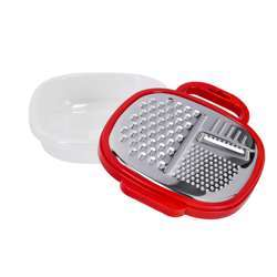 Delcasa DC1661 Large Box Grater 3 in 1 Cheese Grater