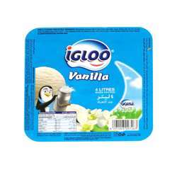 Igloo Milk Based Vanilla Ice Cream (4x4ltr)