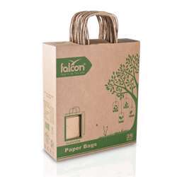 Brown Paper Shopping Bag 33 X 27 X 12 Cm (1 Pack X 25 Pieces)