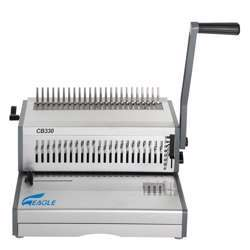 Eagle Spiral Heavy Binding Machine CB-330 (Comb- Manual) - Grey/Silver