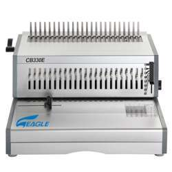 Eagle Spiral Heavy Binding Machine CB-330E (Comb- Electric) - Grey/Silver