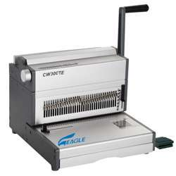 Eagle 2:1 Wire Binding Machine CW300TE (Wire -Electric-21Pin) - Grey/Silver