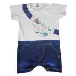 CHA-A-BABY Whale Onesie Boy (6 To 9 Months)