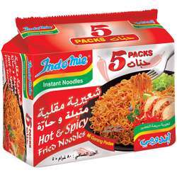 Indomie Fried Noodles Hot & Spicy - 80gm (Pack of 5)