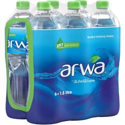 Arwa Bottled Drinking Water - 1.5Ltr (Pack of 6)