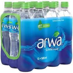 Arwa Bottled Drinking Water - 500ml (Pack of 12)
