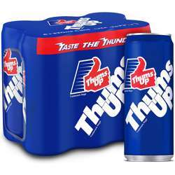 Thums Up Regular Carbonated Softdrink in can - 33ml (Pack of 6)