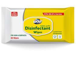 Wow Disinfectent Wipes 60 Sheets