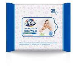 Wow Baby Wet Wipes - 26 Sheets Flow Pack Mild Fragrance