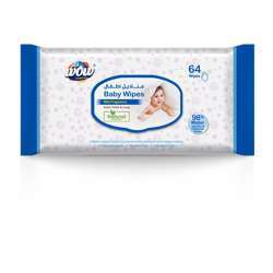 Wow Baby Wet Wipes - 64 Sheets Flow Pack Mild Fragrance
