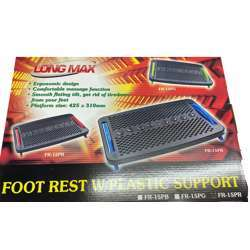 Micro Meilon Footrest With Red Plastic Support
