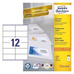 Avery Multipurpose General-Use Labels With Ultra Grip, 105x48mm
