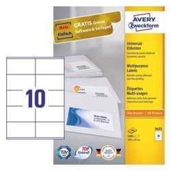 Avery Multipurpose General-Use Labels With Ultra Grip, 105x57mm