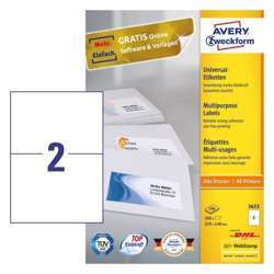 Avery Multipurpose General-Use Labels With Ultra Grip, 210x148mm