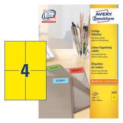 Avery Coloured Labels 105x148mm Yellow
