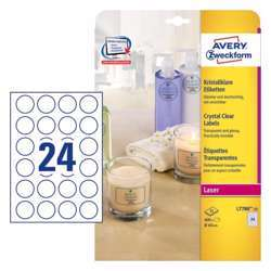 Avery Crystal Clear Labels 40 mm