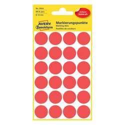 Avery Dot Stickers 18 mm, Red