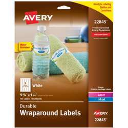 Avery Water Resistant Wraparound Labels Sure Feed Technology