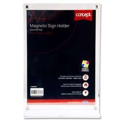 Premier Concept A4 Magnetic T-Shaped Countertop Sign Holder