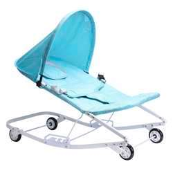 Baby Plus Baby Rocker - Baby Rocking Chair - Canopy - Safety Harness - Infant Rocking Chair - Toddler Rocking Chair - Adjustable 3 Position Seat Recline - Four Wheels