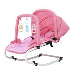 Baby Plus BP8717-Pink - Bouncer Baby Bouncer Seat | Safe, Portable Rocker Chair With Adjustable Height Positions | Infant Sleeper Bouncy Seat Perfect For New-Born Babies By Comfy Bumpy