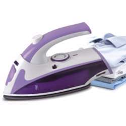 Geepas GSI7805 800W Dry Iron With Foldable Handle - Non-Stick Coating Plate & Adjustable Thermostat Control | Steam Shot, Transparent Water Tank, Durable Material | 2 Years Warranty