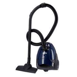 Geepas GVC2594 Vacuum Cleaner With Dust Bag, 2200W - 1.5L - Powerful Suction - Dust Full Indicator | Flexible Hose With Airflow On Handle | Pedal Switch And Auto-Rewinding Wire | 2 Years Warranty