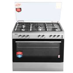 Geepas GCR9063NST Free Standing Gas Cooking Range Bake & Grill, 90X60