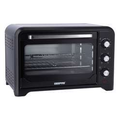 Geepas GO34024 42L Electric Kitchen Oven - Powerful 2000W With Crumb Tray, 60 Minutes Timer & Rotisserie & Convection Function | 6 Selectors For Baking & Grilling | 4 Accessories Included | 2 Years Warranty