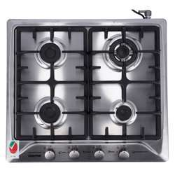 Geepas GGH6492NST 4-Burner Gas Hob - Attractive Design, 4 Controlling Knobs With 2.5Kw Triple Wok Burner   Automatic Ignition, 4 Heating Zones  Ergonomic Design, Stainless Steel Body   1 Year Warranty